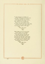 Page 8, 1921 Edition, College of William and Mary - Colonial Echo Yearbook (Williamsburg, VA) online yearbook collection