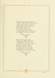 Page 9, 1921 Edition, College of William and Mary - Colonial Echo Yearbook (Williamsburg, VA) online yearbook collection