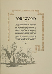 Page 11, 1930 Edition, College of William and Mary - Colonial Echo Yearbook (Williamsburg, VA) online yearbook collection