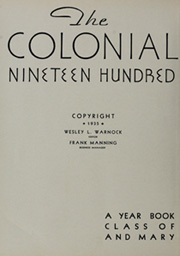 Page 8, 1935 Edition, College of William and Mary - Colonial Echo Yearbook (Williamsburg, VA) online yearbook collection