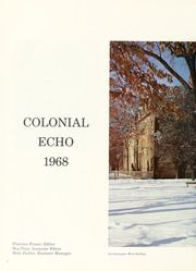 Page 6, 1968 Edition, College of William and Mary - Colonial Echo Yearbook (Williamsburg, VA) online yearbook collection