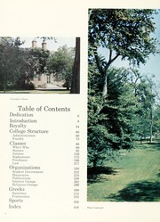 Page 8, 1968 Edition, College of William and Mary - Colonial Echo Yearbook (Williamsburg, VA) online yearbook collection