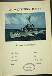 Page 5, 1963 Edition, Wedderburn (DD 684) - Naval Cruise Book online yearbook collection