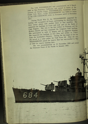 Page 8, 1963 Edition, Wedderburn (DD 684) - Naval Cruise Book online yearbook collection