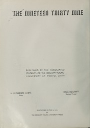 Page 6, 1939 Edition, Brigham Young University - Banyan Yearbook (Provo, UT) online yearbook collection