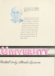 Page 13, 1940 Edition, Brigham Young University - Banyan Yearbook (Provo, UT) online yearbook collection