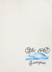 Page 5, 1940 Edition, Brigham Young University - Banyan Yearbook (Provo, UT) online yearbook collection