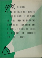 Page 6, 1953 Edition, Brigham Young University - Banyan Yearbook (Provo, UT) online yearbook collection
