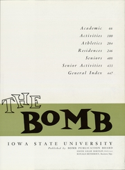 Page 15, 1961 Edition, Iowa State University - Bomb Yearbook (Ames, IA) online yearbook collection