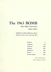 Page 5, 1963 Edition, Iowa State University - Bomb Yearbook (Ames, IA) online yearbook collection