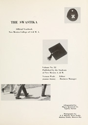 Page 5, 1958 Edition, New Mexico State University - Swastika Yearbook (Las Cruces, NM) online yearbook collection