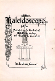 Page 4, 1917 Edition, Middlebury College - Kaleidoscope Yearbook (Middlebury, VT) online yearbook collection