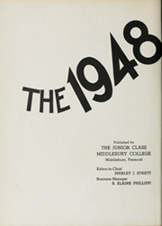 Page 6, 1948 Edition, Middlebury College - Kaleidoscope Yearbook (Middlebury, VT) online yearbook collection