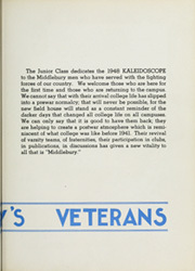 Page 9, 1948 Edition, Middlebury College - Kaleidoscope Yearbook (Middlebury, VT) online yearbook collection