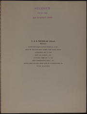 Page 5, 1945 Edition, Nicholas (DD 449) - Naval Cruise Book online yearbook collection