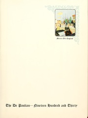 Page 5, 1930 Edition, DePaul University - Depaulian Yearbook (Chicago, IL) online yearbook collection