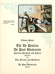 Page 7, 1930 Edition, DePaul University - Depaulian Yearbook (Chicago, IL) online yearbook collection