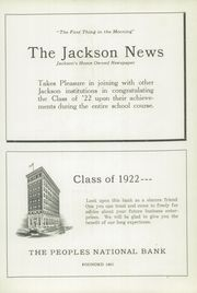 Page 11, 1922 Edition, Jackson High School - Reflector Yearbook (Jackson, MI) online yearbook collection