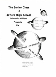 Page 5, 1963 Edition, Jeffers High School - Chronoscope Yearbook (Painesdale, MI) online yearbook collection