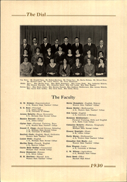 Page 10, 1930 Edition, Marshall High School - Dial Yearbook (Marshall, MI) online yearbook collection