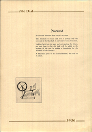 Page 6, 1930 Edition, Marshall High School - Dial Yearbook (Marshall, MI) online yearbook collection