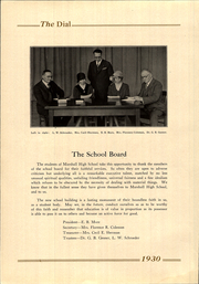 Page 8, 1930 Edition, Marshall High School - Dial Yearbook (Marshall, MI) online yearbook collection