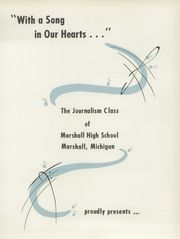 Page 5, 1955 Edition, Marshall High School - Dial Yearbook (Marshall, MI) online yearbook collection