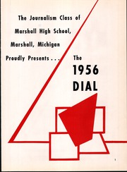 Page 5, 1956 Edition, Marshall High School - Dial Yearbook (Marshall, MI) online yearbook collection
