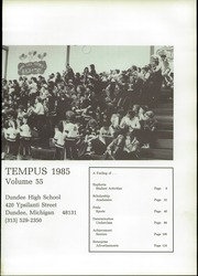 Page 5, 1985 Edition, Dundee High School - Tempus Yearbook (Dundee, MI) online yearbook collection