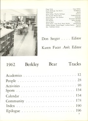 Page 11, 1962 Edition, Berkley High School - Bear Tracks Yearbook (Berkley, MI) online yearbook collection