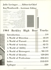 Page 13, 1964 Edition, Berkley High School - Bear Tracks Yearbook (Berkley, MI) online yearbook collection