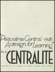 Page 7, 1946 Edition, Central High School - Centralite Yearbook (Detroit, MI) online yearbook collection
