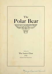 Page 7, 1924 Edition, Highland Park High School - Polar Bear Yearbook (Highland Park, MI) online yearbook collection
