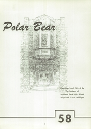 Page 5, 1958 Edition, Highland Park High School - Polar Bear Yearbook (Highland Park, MI) online yearbook collection