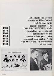 Page 8, 1984 Edition, Central High School - Prospectus Yearbook (Flint, MI) online yearbook collection