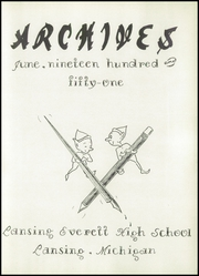 Page 7, 1951 Edition, Everett High School - Archives Yearbook (Lansing, MI) online yearbook collection