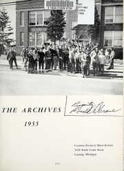 Page 5, 1955 Edition, Everett High School - Archives Yearbook (Lansing, MI) online yearbook collection