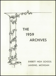 Page 5, 1959 Edition, Everett High School - Archives Yearbook (Lansing, MI) online yearbook collection