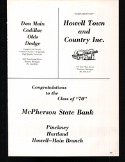 Page 167, 1970 Edition, Pinckney High School - Pirate Log Yearbook (Pinckney, MI) online yearbook collection