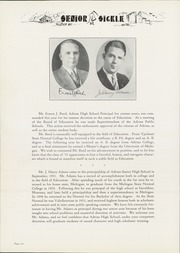Page 14, 1932 Edition, Adrian High School - Sickle Yearbook (Adrian, MI) online yearbook collection