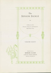 Page 7, 1932 Edition, Adrian High School - Sickle Yearbook (Adrian, MI) online yearbook collection