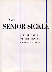 Page 7, 1937 Edition, Adrian High School - Sickle Yearbook (Adrian, MI) online yearbook collection