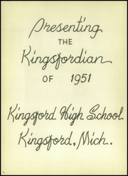 Page 6, 1951 Edition, Kingsford High School - Kingsfordian Yearbook (Kingsford, MI) online yearbook collection