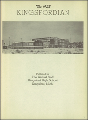Page 5, 1952 Edition, Kingsford High School - Kingsfordian Yearbook (Kingsford, MI) online yearbook collection