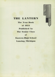 Page 5, 1934 Edition, Eastern High School - Lantern Yearbook (Lansing, MI) online yearbook collection