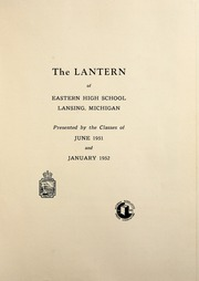 Page 5, 1951 Edition, Eastern High School - Lantern Yearbook (Lansing, MI) online yearbook collection