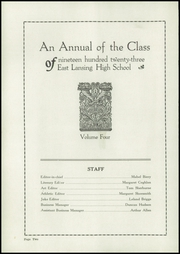 Page 4, 1923 Edition, East Lansing High School - Ceniad Yearbook (East Lansing, MI) online yearbook collection