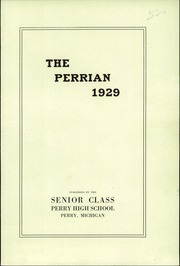 Page 3, 1929 Edition, Perry High School - Rambler Yearbook (Perry, MI) online yearbook collection