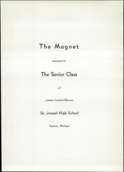 Page 7, 1951 Edition, St Joseph High School - Magnet Yearbook (Saginaw, MI) online yearbook collection