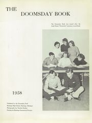 Page 5, 1958 Edition, Hastings High School - Saxon Yearbook (Hastings, MI) online yearbook collection